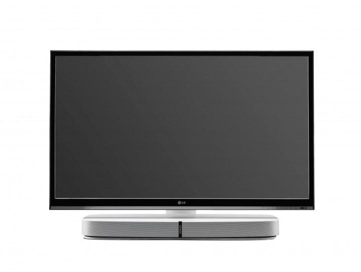 Flexson Flxpbtvst1011 Adjustable Tv Stand For Sonos Playbase In Latest Sonos Tv Stands (Image 8 of 20)