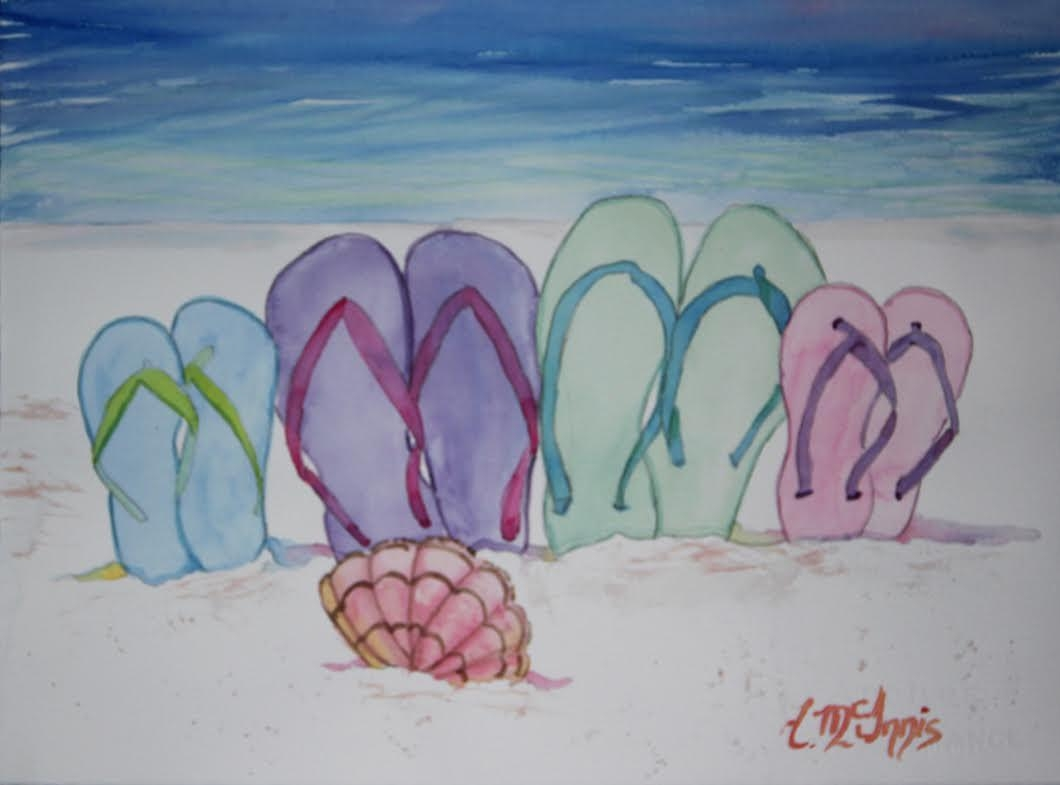 Flip Flop Family Painting Party Tues 7 Jun 630 Pm In Niceville In Flip Flop Wall Art (View 16 of 20)