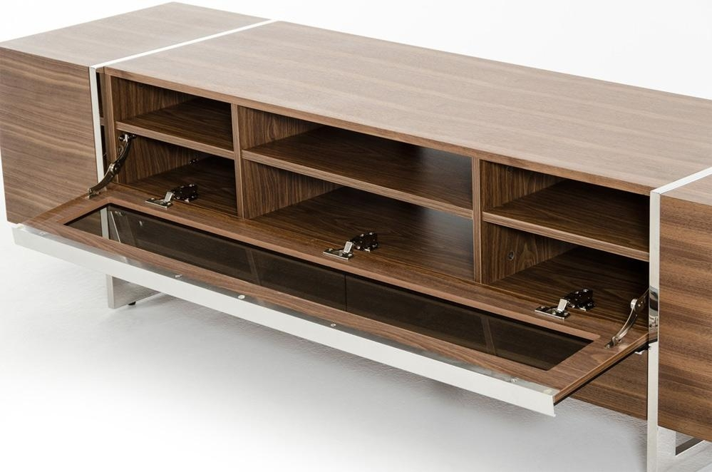 Flora Modern Walnut Tv Stand | Tv Stands Within Recent Modern Walnut Tv Stands (View 11 of 20)