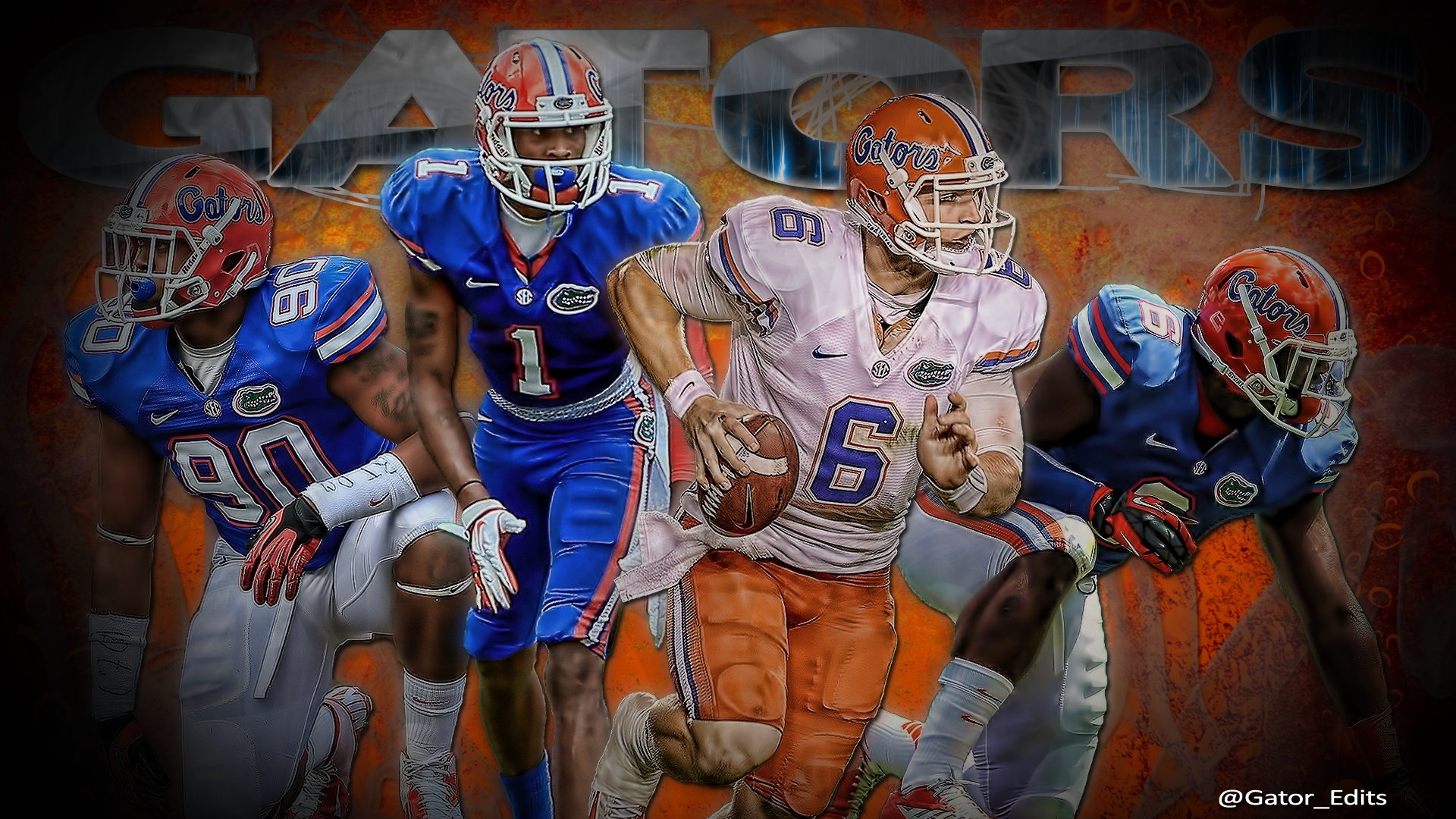 Florida Gators Football Wallpaperjagstownville On Deviantart Regarding Florida Gator Wall Art (Image 10 of 20)