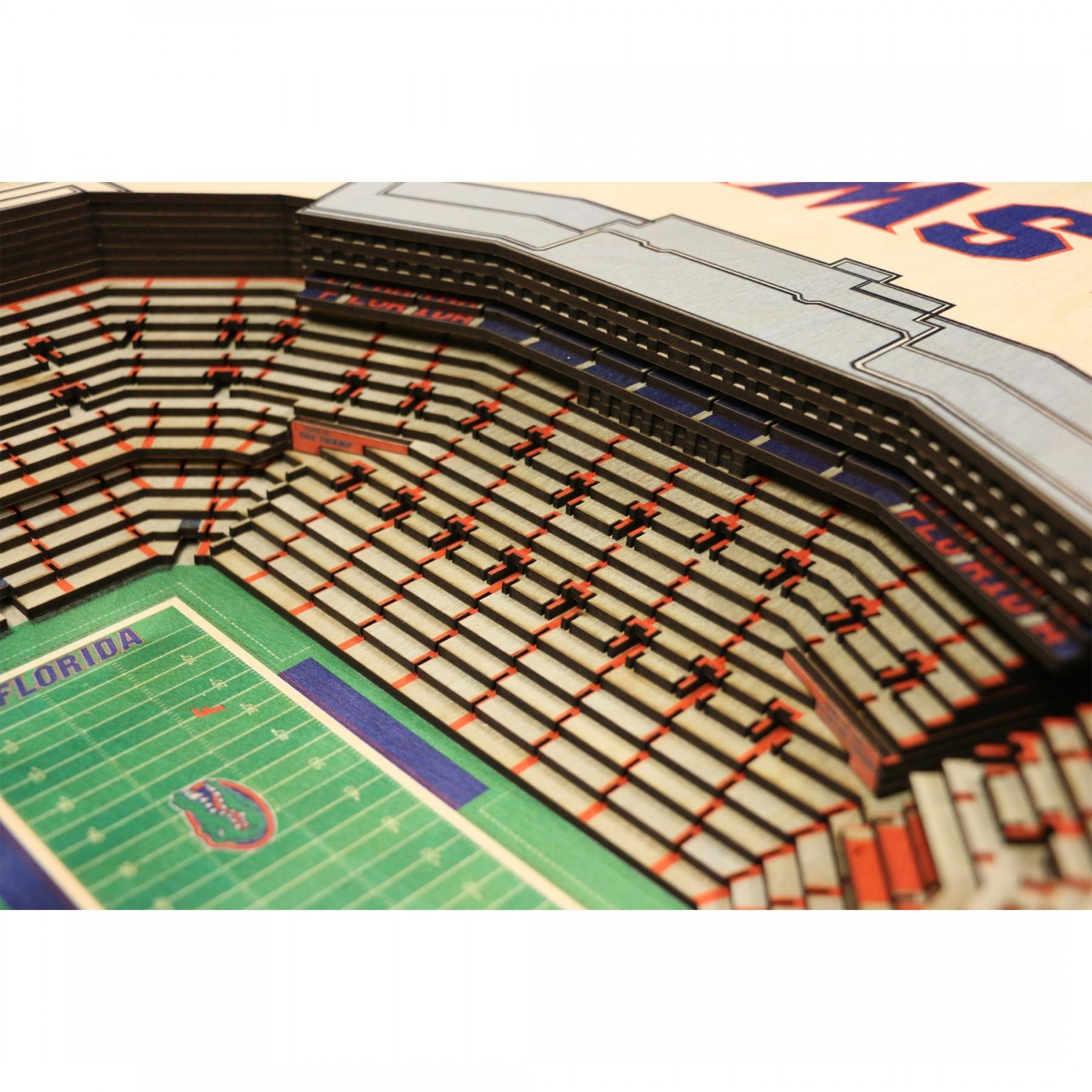 Florida Gators Stadiumview Wall Art – Ben Hill Griffin Stadium 3 D In Florida Gator Wall Art (Image 13 of 20)