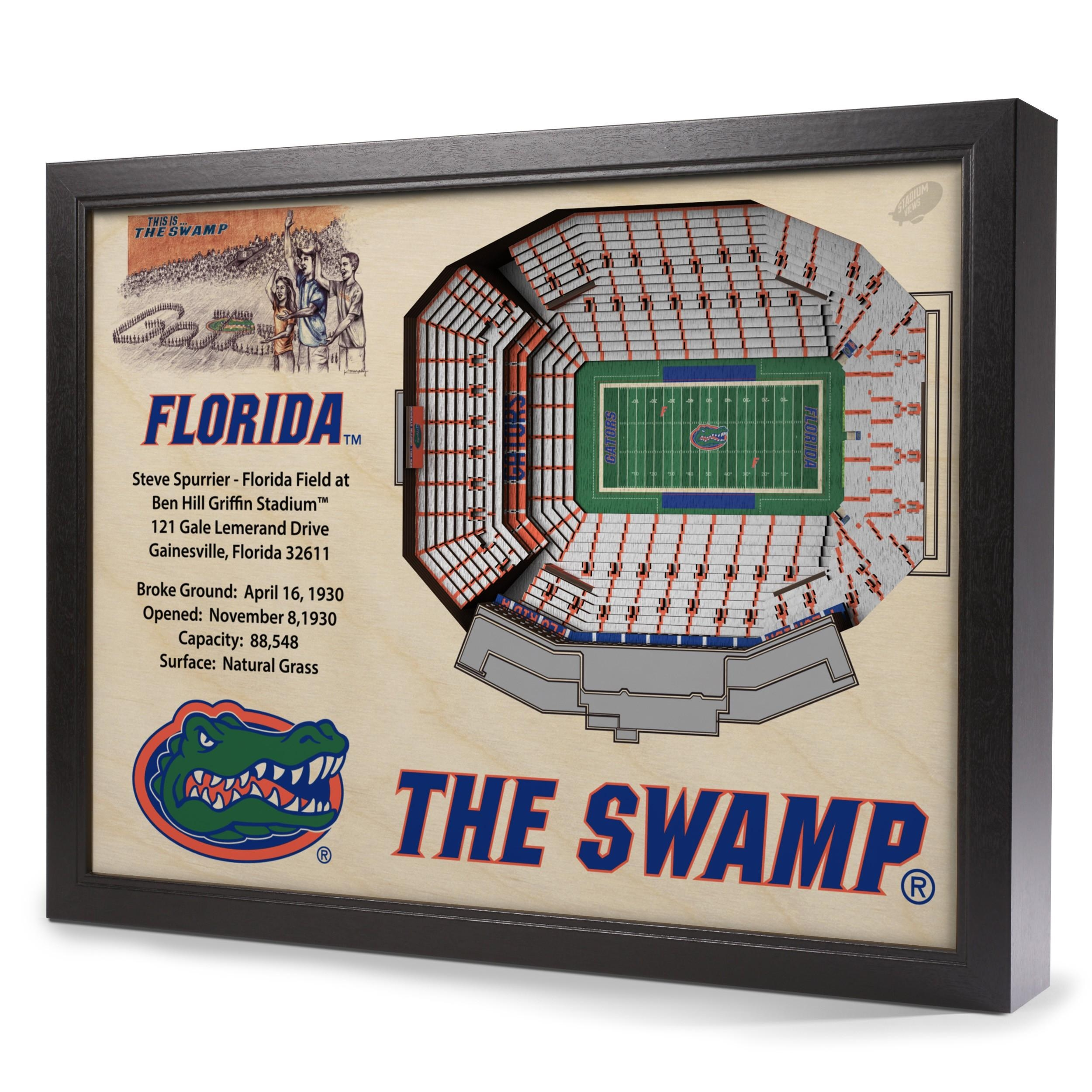 Florida Gators Stadiumview Wall Art – Ben Hill Griffin Stadium 3 D In Florida Gator Wall Art (Image 12 of 20)