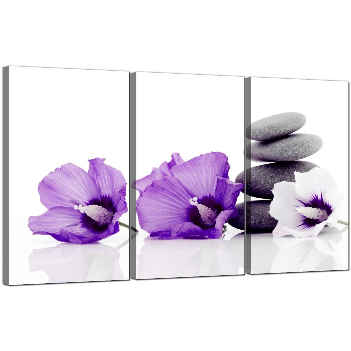 Flowers Canvas Wall Art Set Of 3 For Your Dining Room Within 3 Piece Floral Wall Art (Image 10 of 20)
