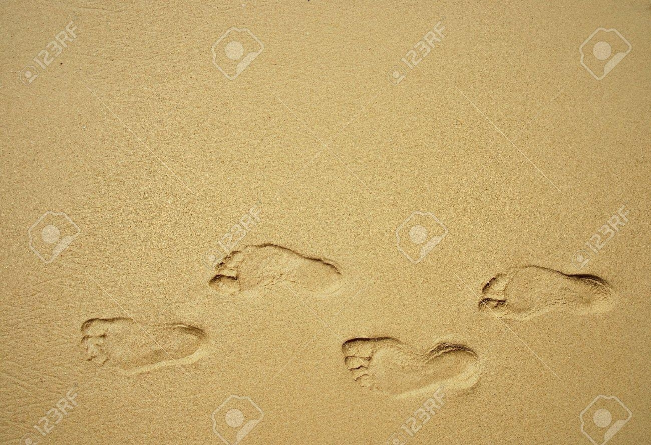 Footprints In The Sand Stock Photos (View 14 of 20)