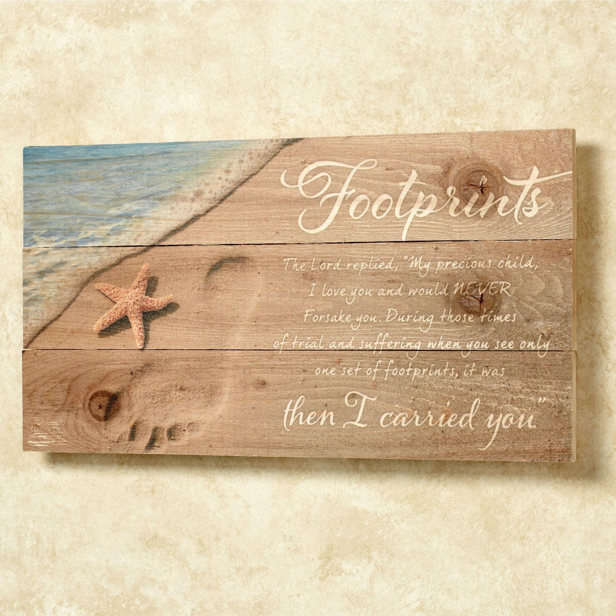 Featured Photo of Footprints In The Sand Wall Art