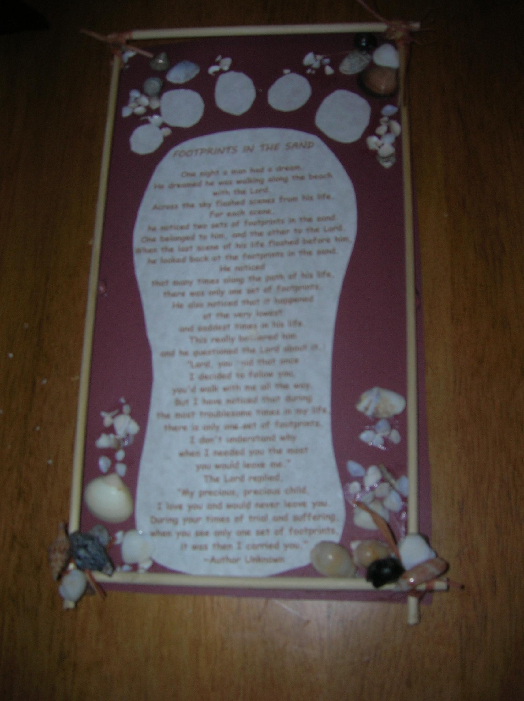 Footprints In The Sand Wall Hanging | Buggalcrafts In Footprints In The Sand Wall Art (Image 11 of 20)