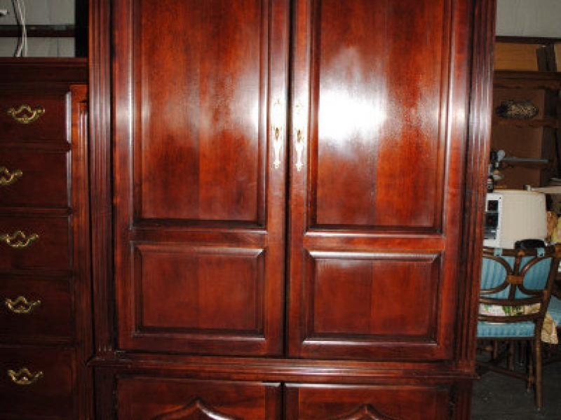For Sale – Thomasville Cherry Tv Armoire – East Windsor, Nj Patch For Most Current Cherry Tv Armoire (Image 13 of 20)