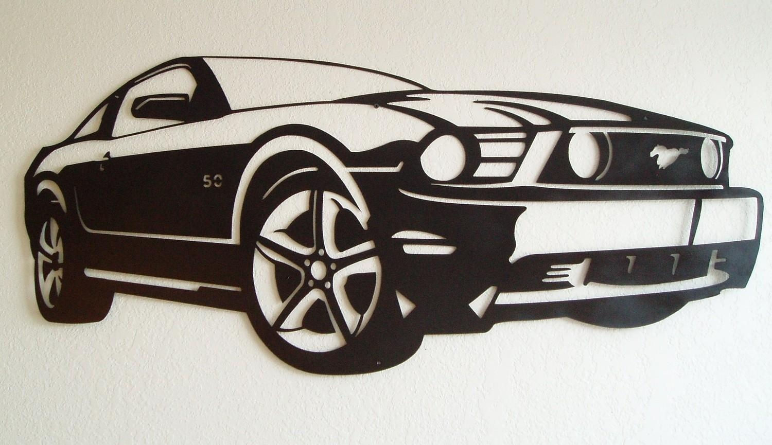Ford Mustang Metal Wall Art In Ford Mustang Metal Wall Art (Photo 1 of 20)