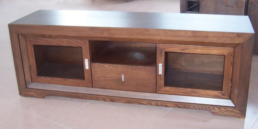 Foreign Solid Wood Furniture Solid Wood Tv Cabinet Modern With Current Solid Oak Tv Cabinets (Image 7 of 20)