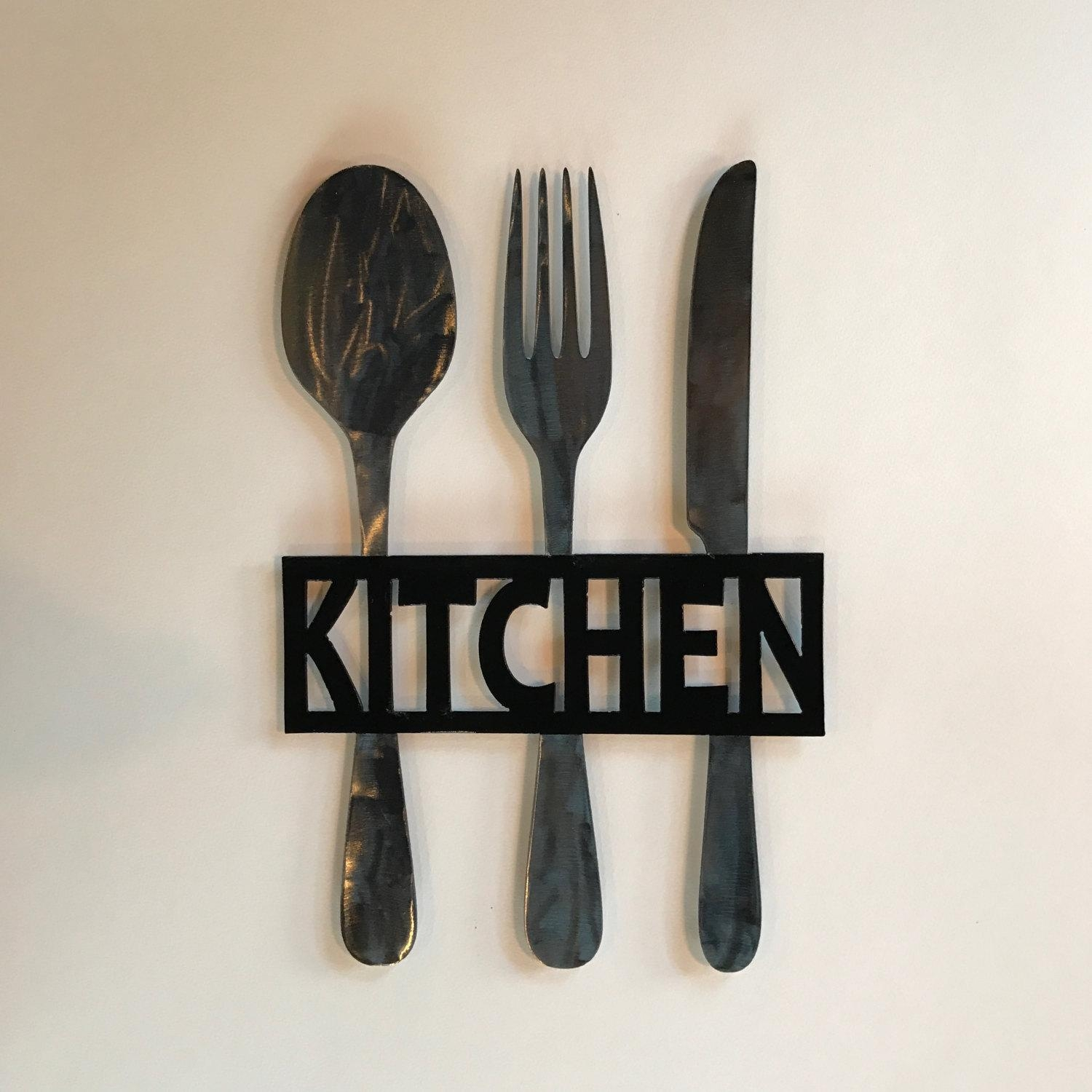 Fork And Spoon Wall Decor | Roselawnlutheran Intended For Silverware Wall Art (Image 9 of 20)