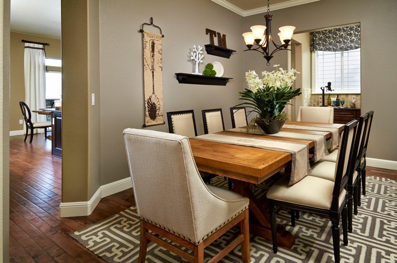 Formal Dining Room Table Setting Ideas Homes Design Inspiration Within Formal Dining Room Wall Art (View 7 of 20)