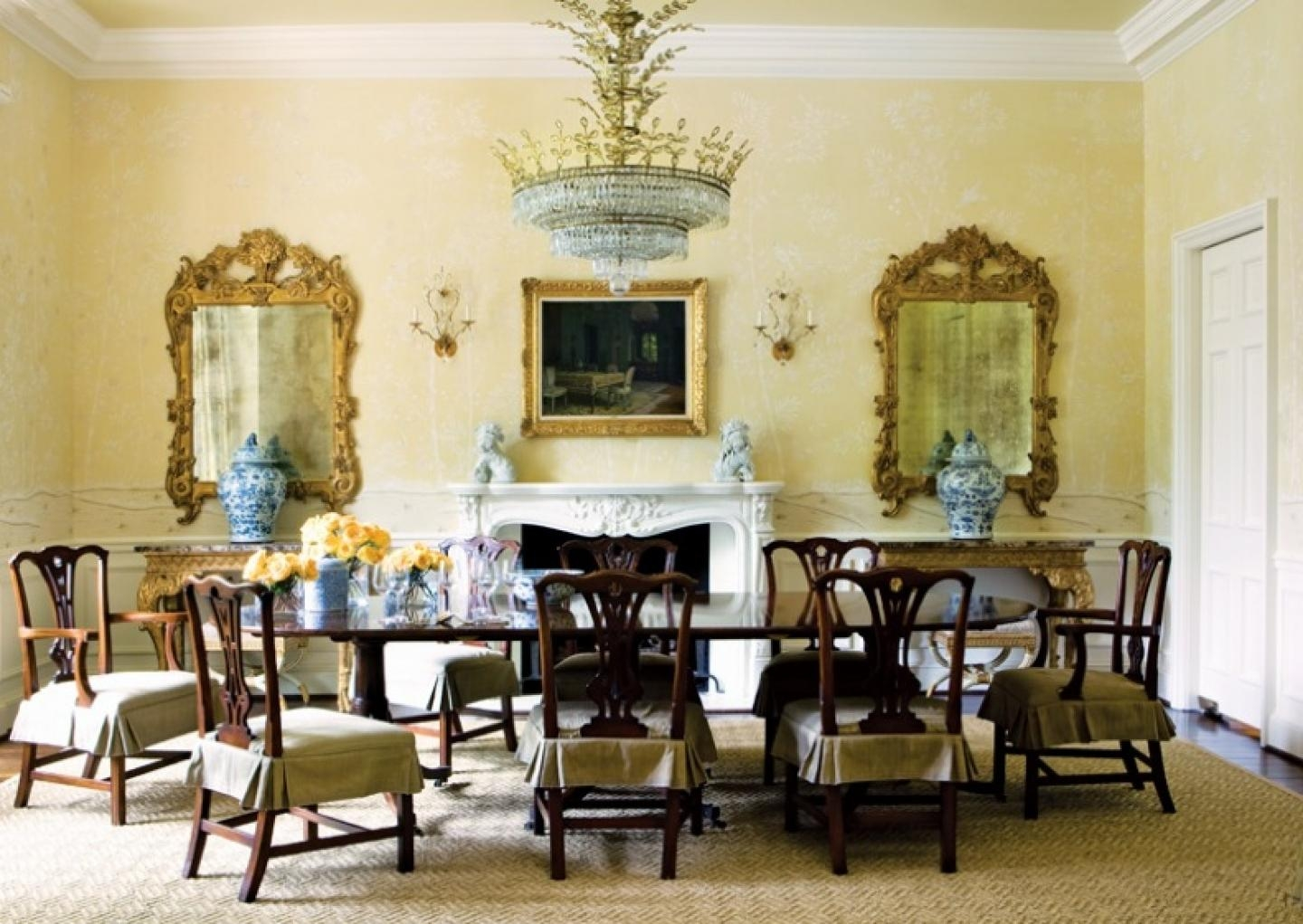 20 collection of formal dining room wall art wall art ideas for Pictures of formal dining rooms