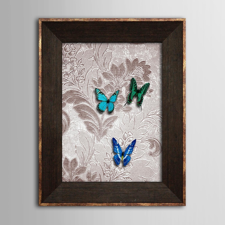 Framed 3D Art Wall Art , Animal 3D Butterflies Three Butterflies Intended For 3D Butterfly Framed Wall Art (Image 11 of 20)