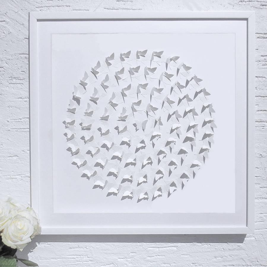 Framed 3D 'circle Of Life' Butterfly Artworkdaisy Maison Throughout 3D Butterfly Framed Wall Art (Image 10 of 20)