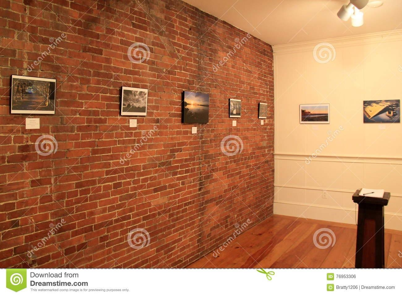 Framed Art Hanging On Brick Walls In One Of Many Rooms, Ogunquit With Hanging Wall Art For Brick Wall (Image 9 of 20)