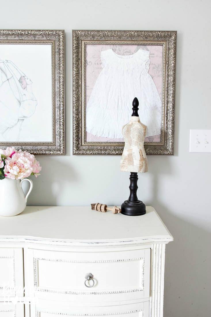 Framed Children's Clothes + Little Girl Room Wall Decor Regarding Wall Art For Little Girl Room (Image 13 of 20)