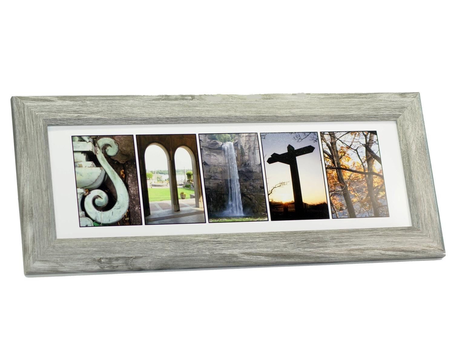 Framed Wedding Sign Last Name Picture Frame With 4 10 In Custom Last Name Wall Art (Image 10 of 20)