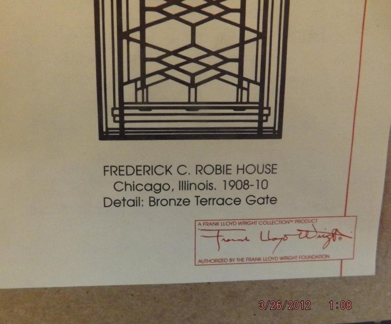 Frank Lloyd Wright Shadow Box/wall Art/the Robie House/bronze In Frank Lloyd Wright Wall Art (View 11 of 20)