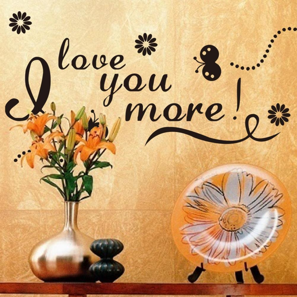 Free Express 52X100Cm I Love You More Wall Art Vinyl Decal Inside I Love You More Wall Art (Image 7 of 20)
