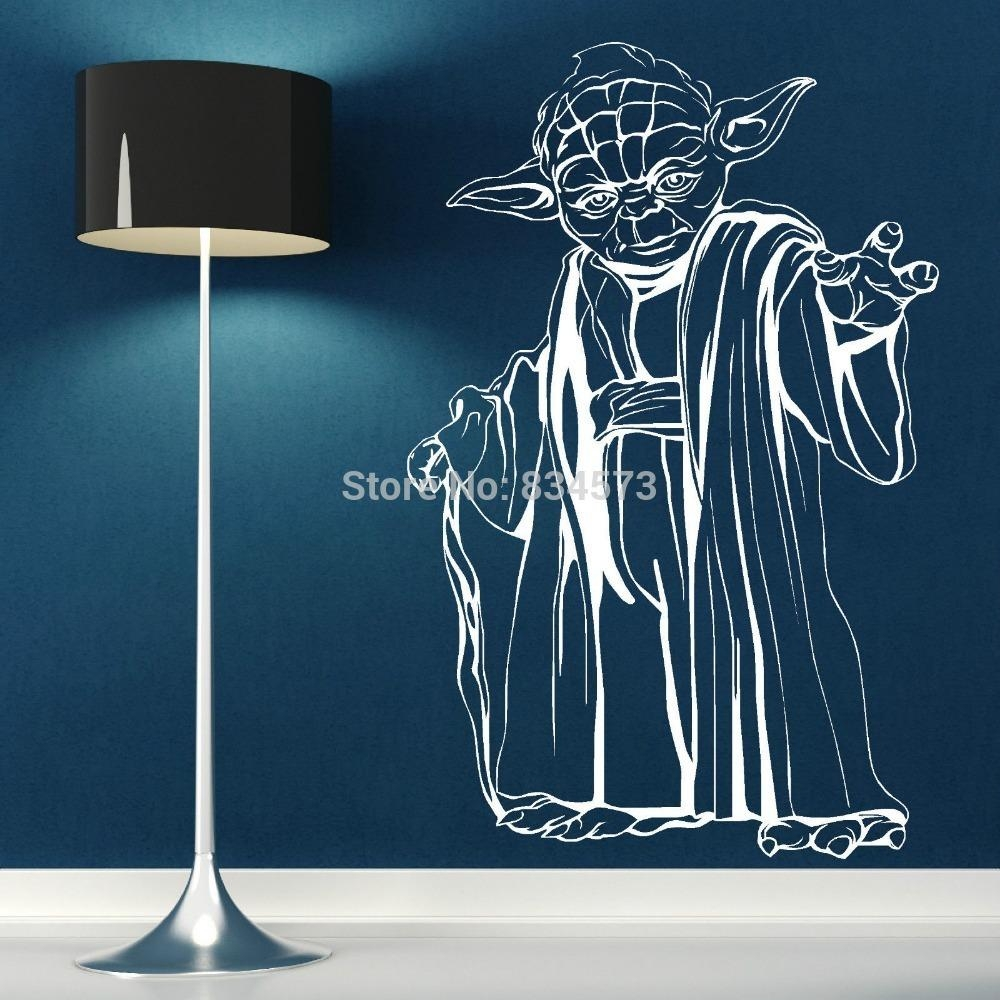 Free Shipping Yoda Star Wars Wall Art Sticker Wall Decal Diy Home Inside Diy Star Wars Wall Art (Image 10 of 20)