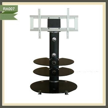 Free Standing Lcd Oval Glass Tv Stand Wholesale – Buy Oval Glass Intended For Current Oval Glass Tv Stands (View 15 of 20)