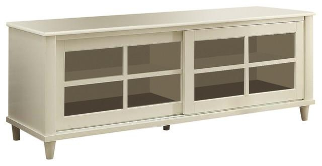 "French Country Tv Center, White, 60"" – Transitional With Regard To Latest Country Tv Stands (View 15 of 20)"