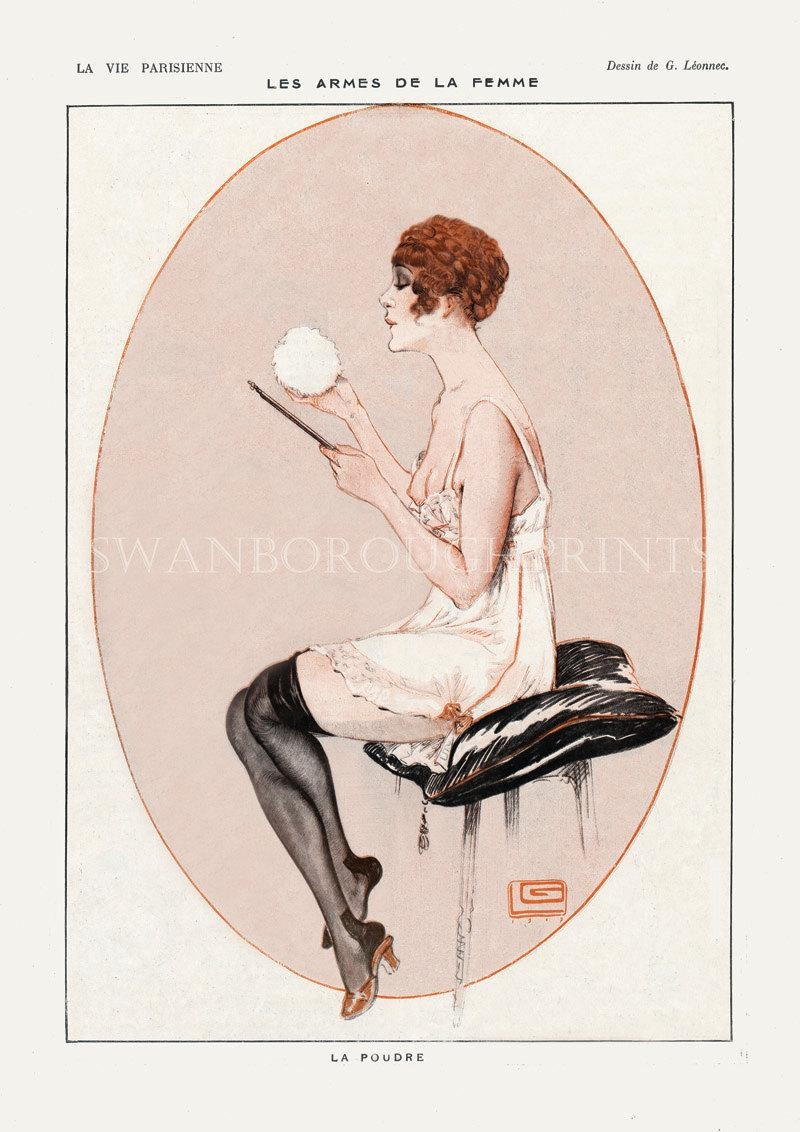 French Pink Bathroom Art Print Unique Gift For Wife (View 6 of 20)