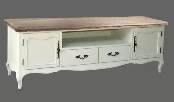 French Provincial Furniture Entertainment Unit Tv Stand In White Throughout Newest Vintage Style Tv Cabinets (View 19 of 20)