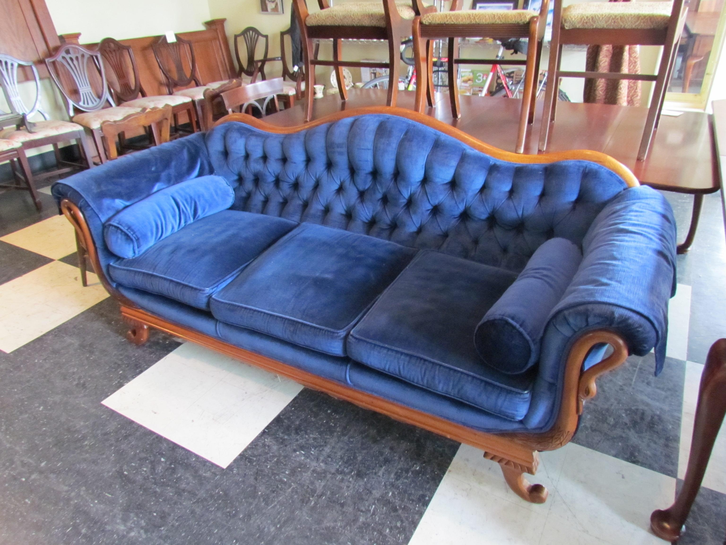 Fresh Great Peacock Blue Tufted Sofa #11131 Within Blue Tufted Sofas (Image 7 of 22)