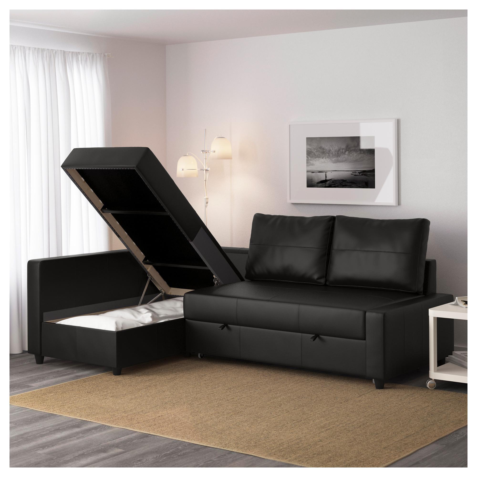 Friheten Sleeper Sectional,3 Seat W/storage – Skiftebo Dark Gray For Leather Storage Sofas (View 4 of 21)