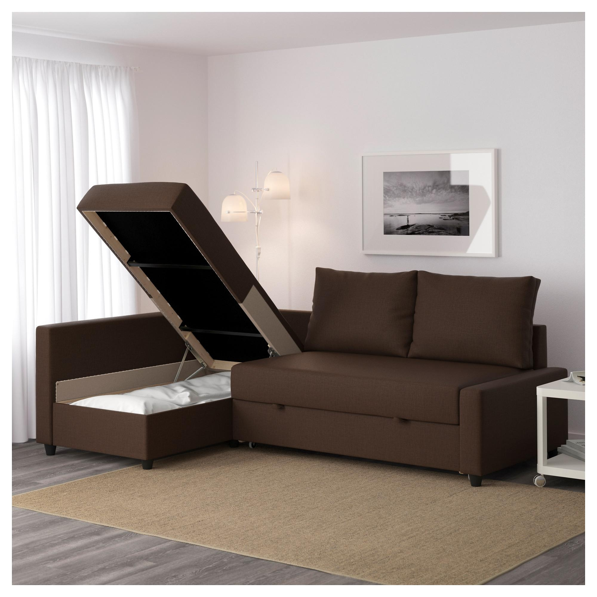 Friheten Sleeper Sectional,3 Seat W/storage – Skiftebo Dark Gray Within Storage Sofa Beds (View 12 of 20)