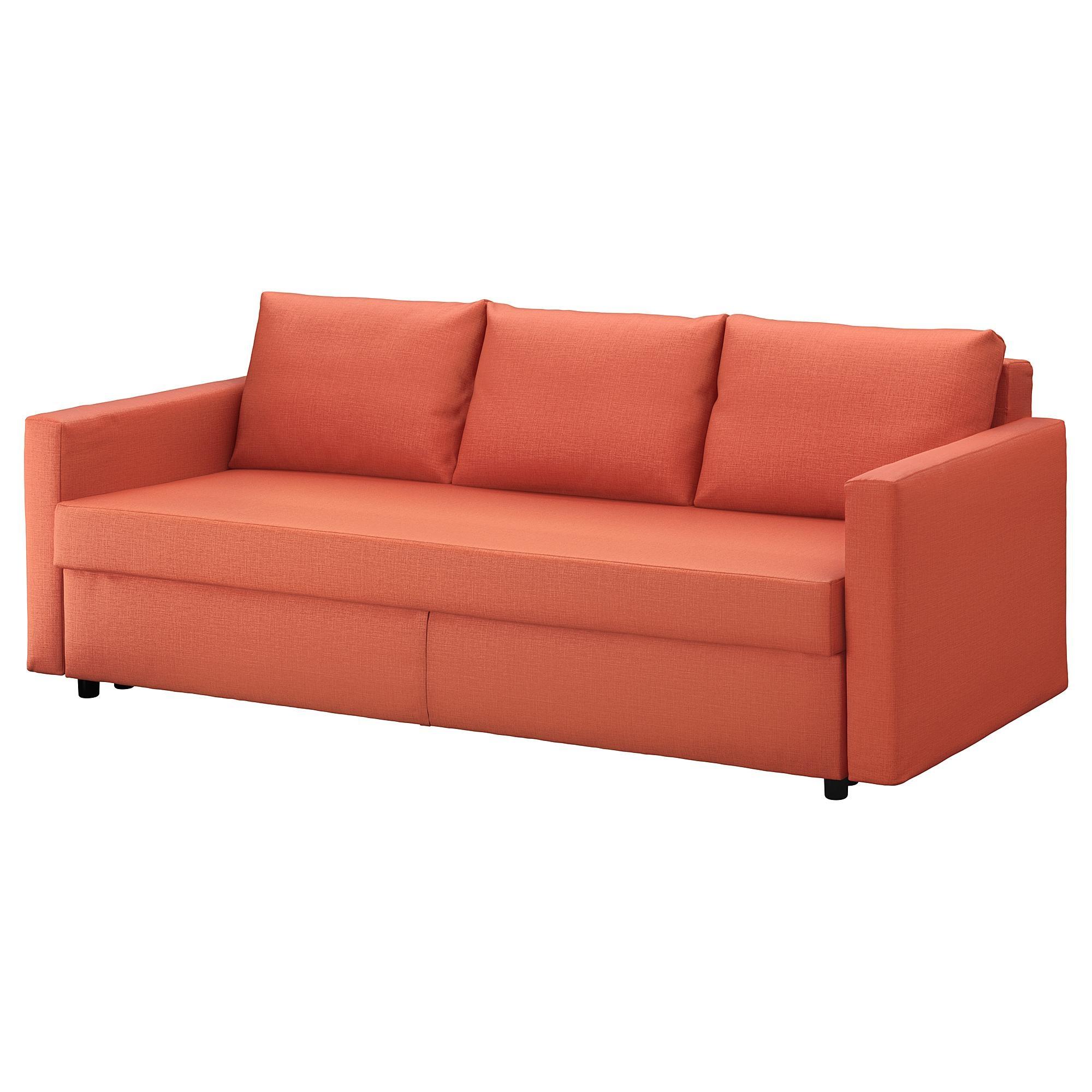 Friheten Sleeper Sofa – Skiftebo Dark Orange – Ikea In Red Sofa Beds Ikea (View 12 of 20)