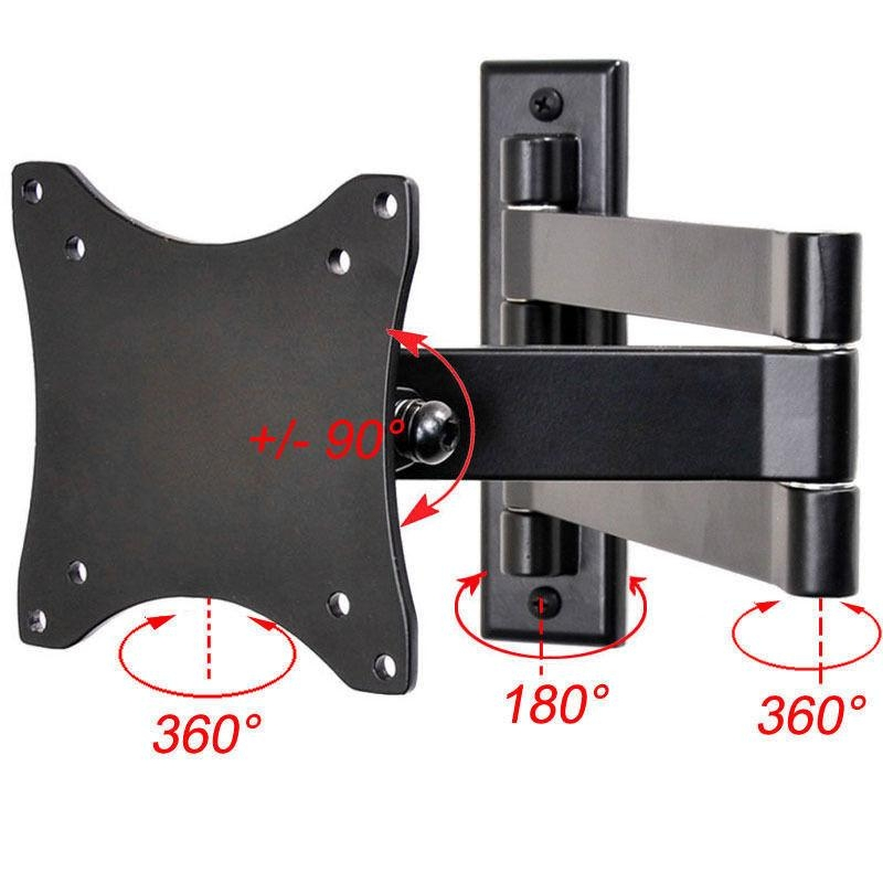 "Full Motion Tilt Led Lcd Tv Wall Mount For Vizio 19"" 26 29"" D24Hn For Best And Newest Tilted Wall Mount For Tv (View 14 of 20)"