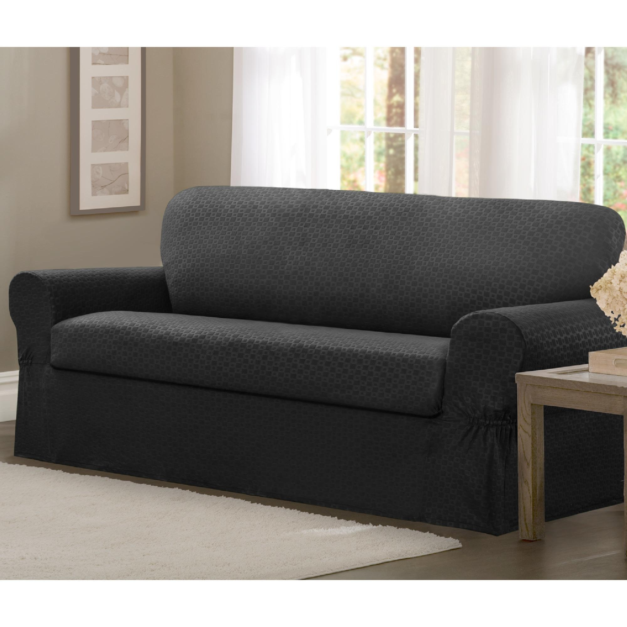Furniture : 10 Maytex Conrad Stretch 2 Piece Sofa Slipcover Set With Regard To 2 Piece Sofa Covers (Image 7 of 27)
