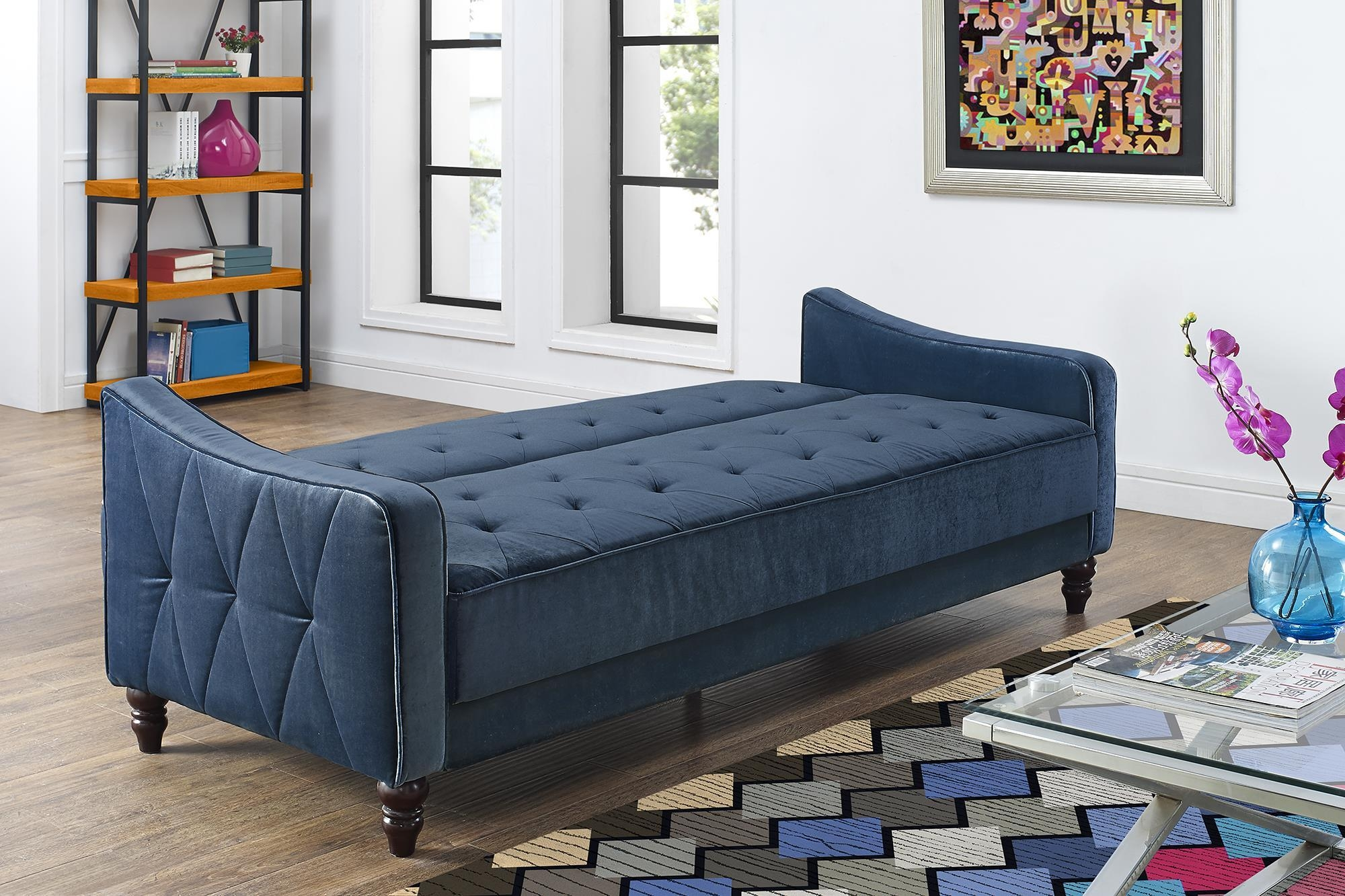 Furniture Amusing Walmart Sofas For Home Ideas Press Blue Tufted Pertaining To Blue Tufted Sofas (Image 9 of 22)