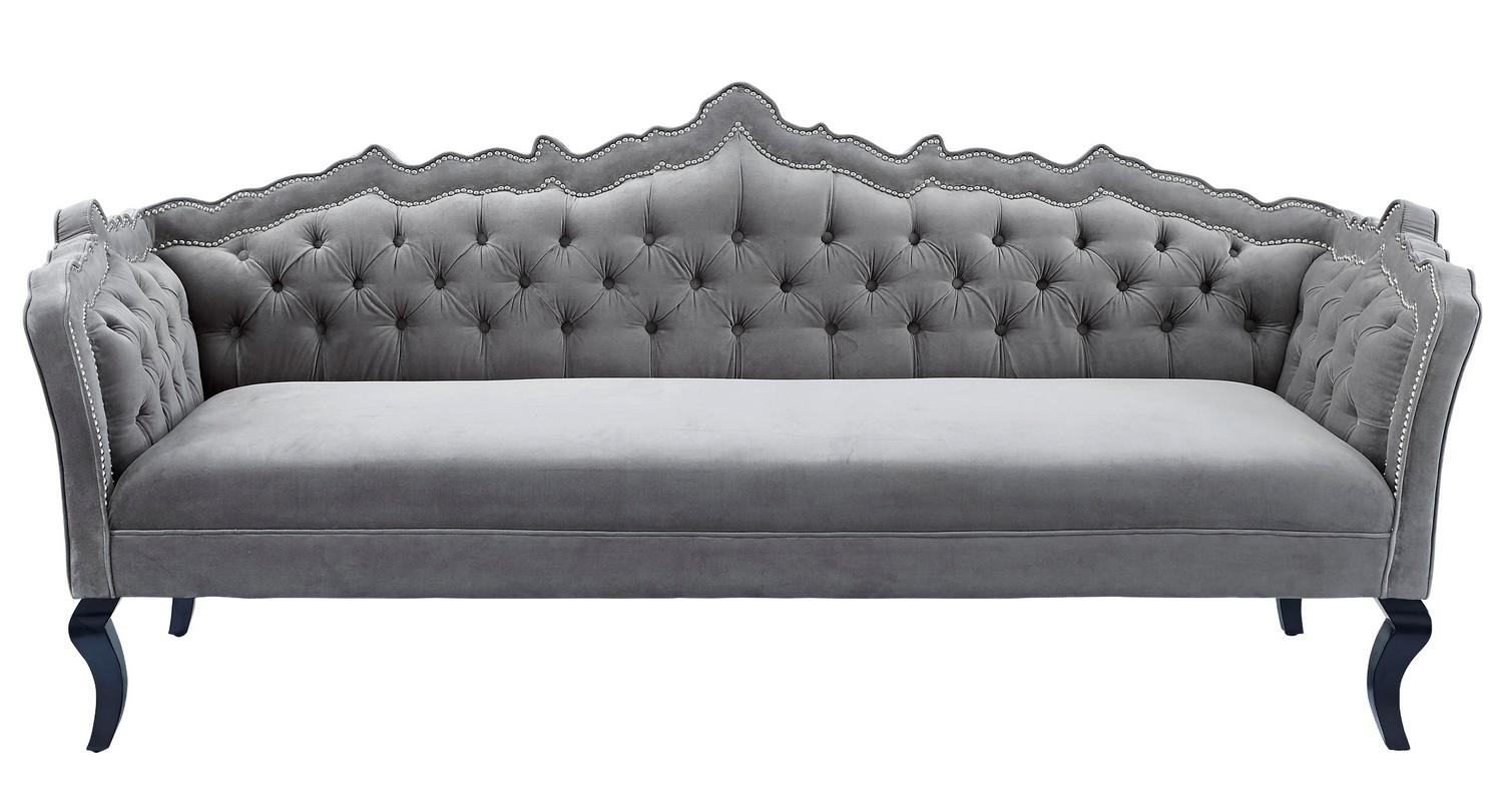 Wonderful Furniture: Best Quality Grey Velvet Sofa For Your Living Room For Cheap  Tufted Sofas (