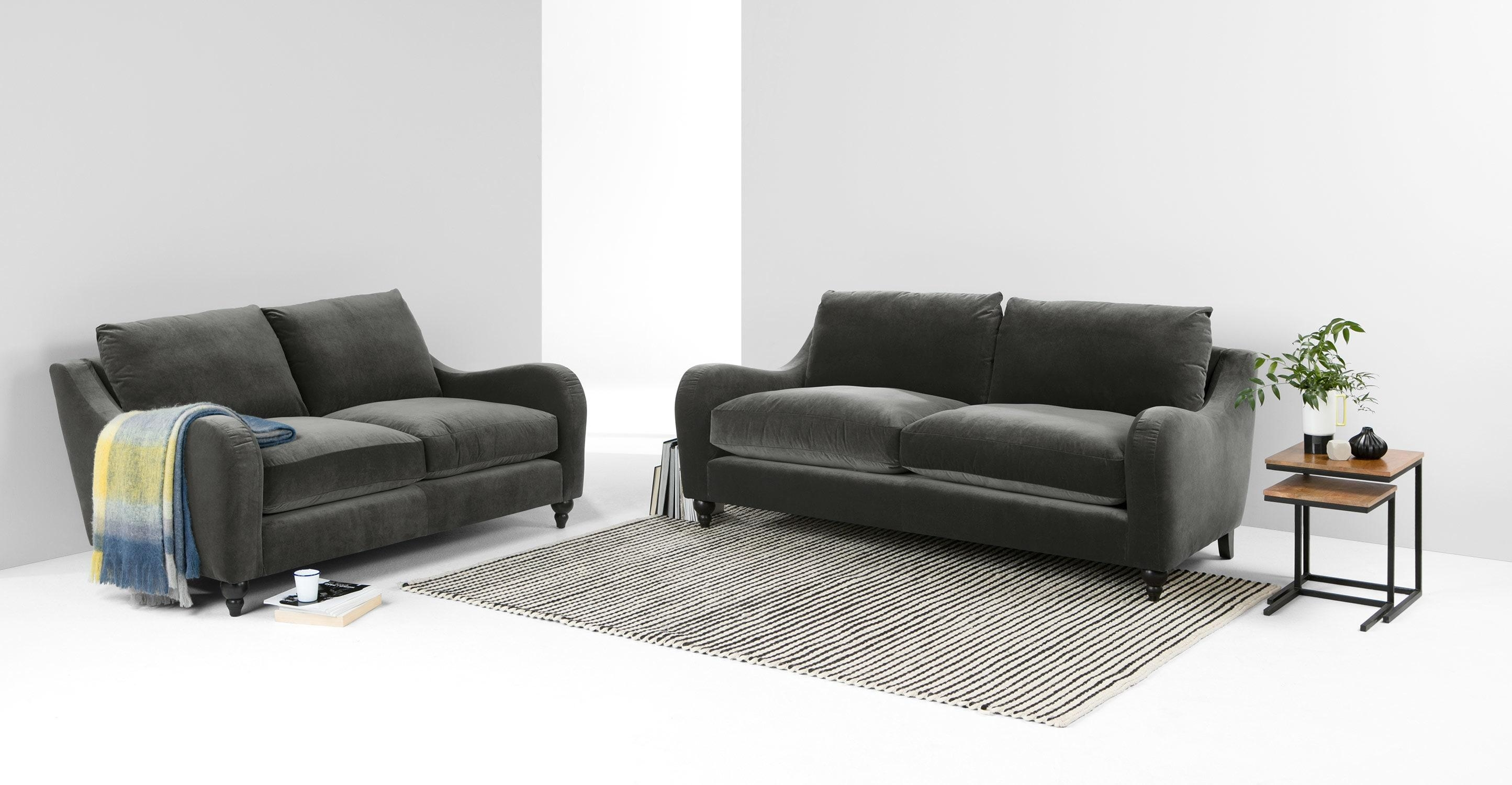 Furniture: Best Quality Grey Velvet Sofa For Your Living Room Inside Funky Sofas For Sale (Image 10 of 20)