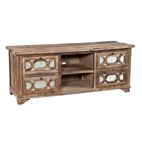 """Furniture Classics Ltd Mirrored 60"""" Tv Stand & Reviews   Wayfair Pertaining To Latest Mirrored Tv Stands (Image 6 of 20)"""