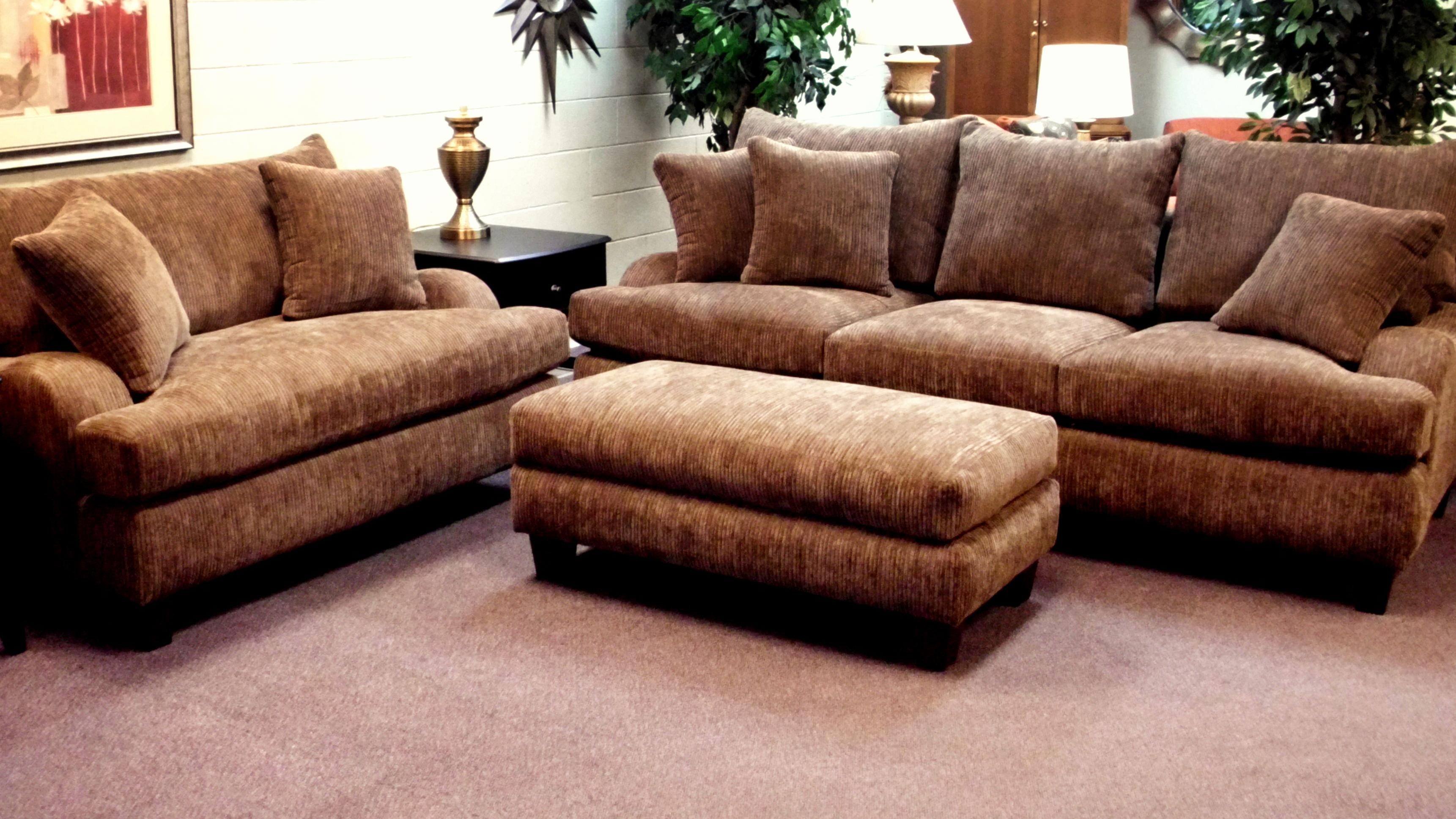 Furniture: Comfy Design Of Oversized Couch For Charming Living For Deep Cushioned Sofas (Image 13 of 22)