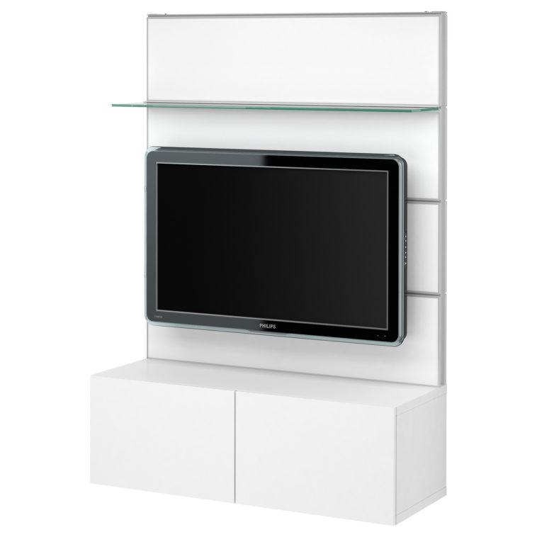 Contemporary Small White Wall Mounted Tv Stand With For Newest