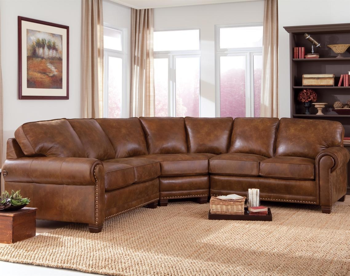 Furniture: Curved Sectional Sofa | Curve Sofa | Curved Sofa Throughout Vintage Leather Sectional Sofas (Image 3 of 20)
