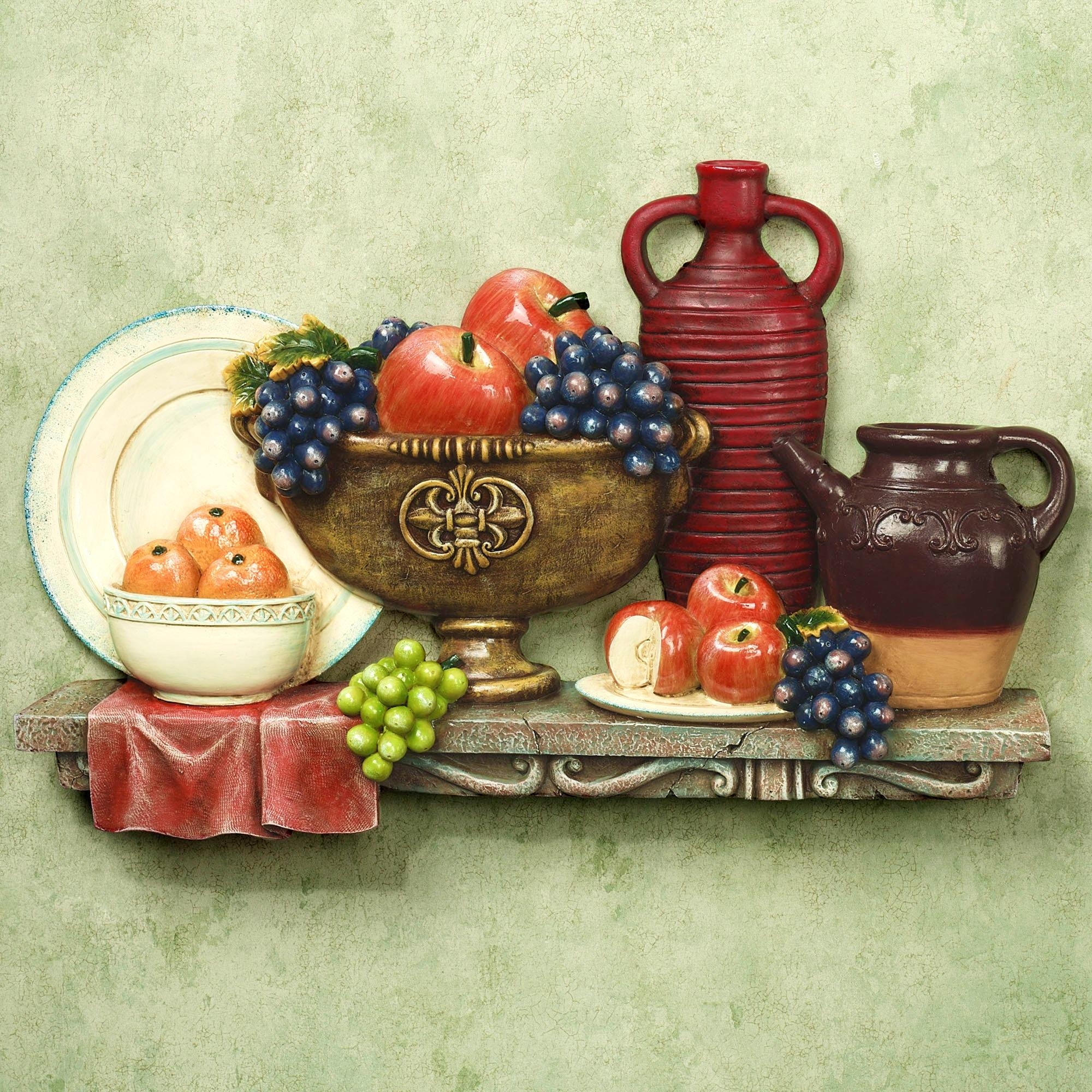 Furniture : Fascinating Fat Italian Chef Kitchen Wall Decor In Italian Coffee Wall Art (Image 9 of 20)