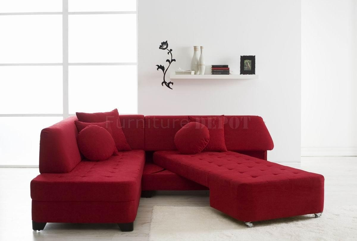 Featured Photo of Red Sectional Sleeper Sofas