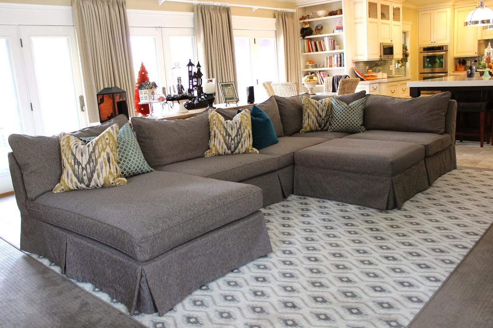 Furniture: How To Make Slipcover For Sectional Sofa | Slipcovered In Slipcover For Leather Sectional Sofas (Image 5 of 21)