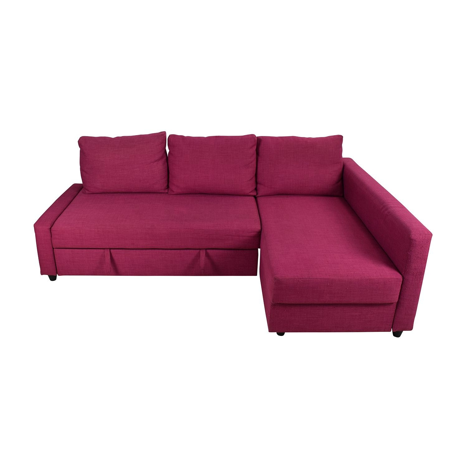 Furniture: Impressive Ikea Sleeper Sofas With Attractive Color With Red Sofa Beds Ikea (View 13 of 20)