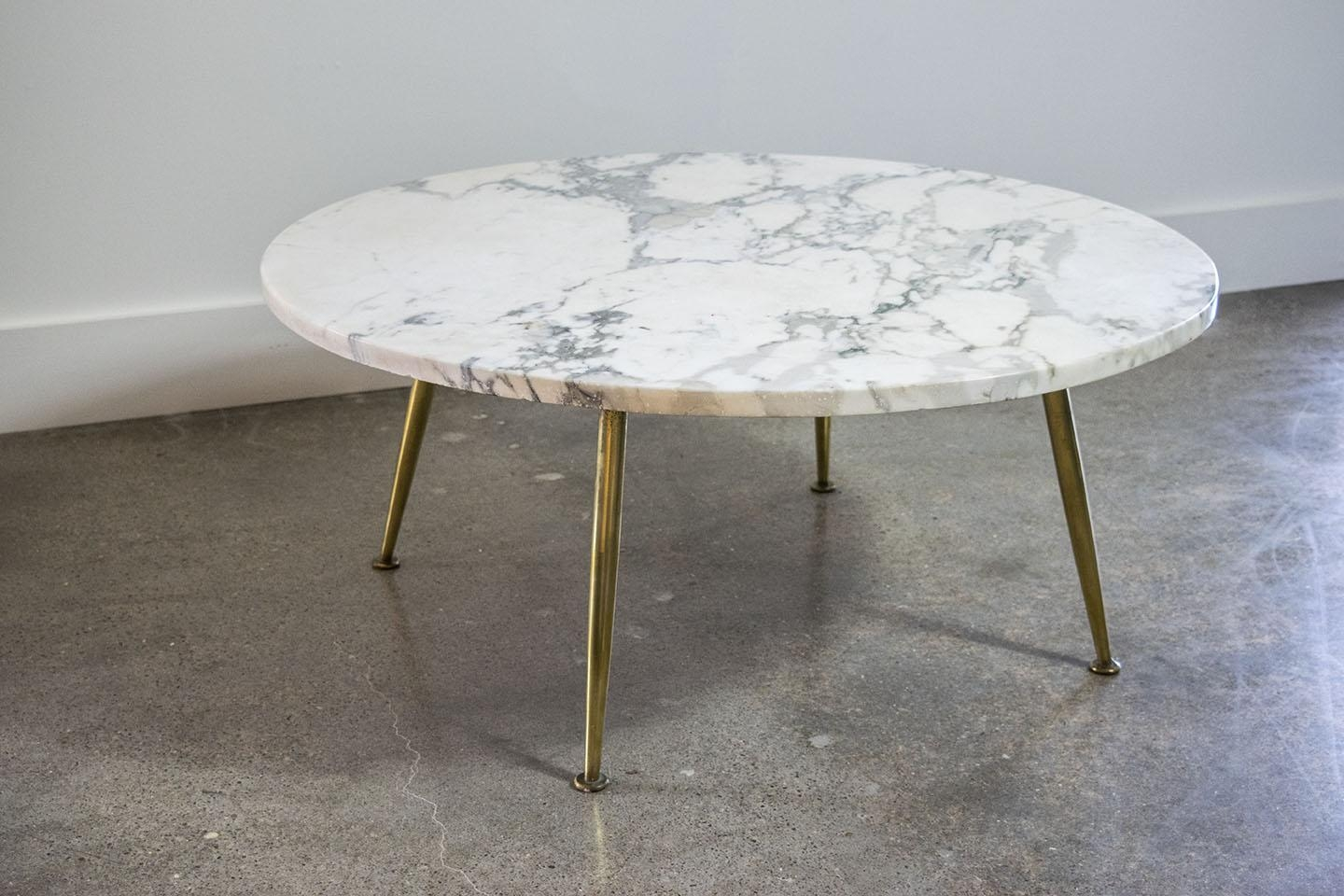Furniture: Italian Carrera Marble Coffee Table With Brass Coffee With Italian Coffee Wall Art (Image 11 of 20)