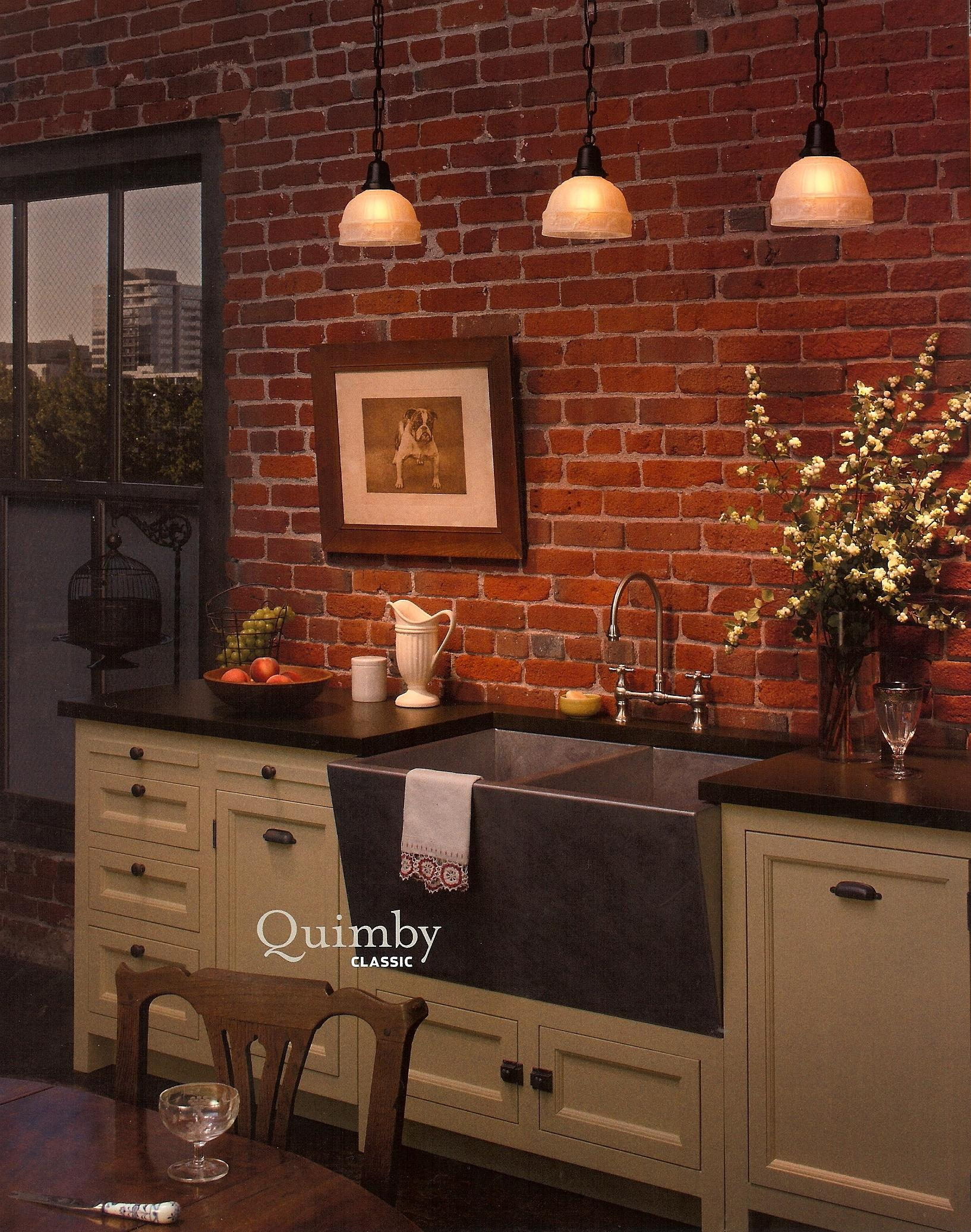 Furniture : Kitchen On Pinterest Modern Kitchens Kitchens And Intended For Hanging Wall Art For Brick Wall (Image 10 of 20)
