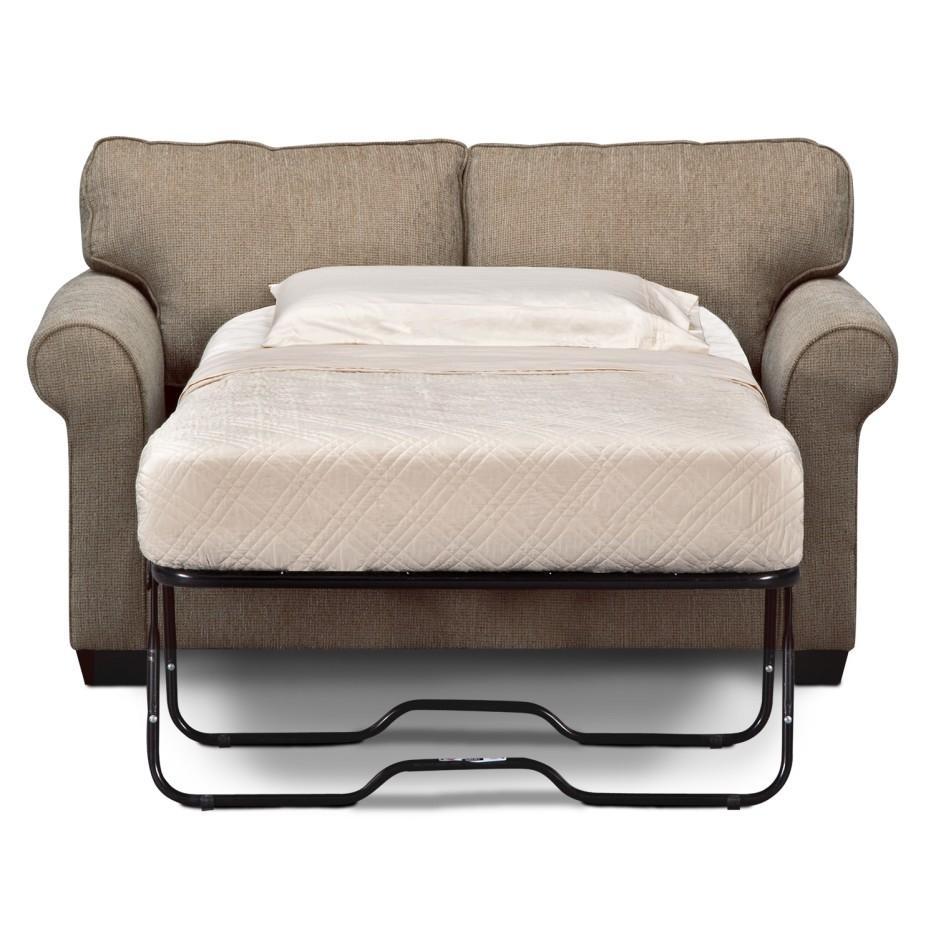 Furniture: Mainstays Sofa Sleeper | Foam Sofa Sleeper | Grey Regarding Loveseat Twin Sleeper Sofas (Image 7 of 20)