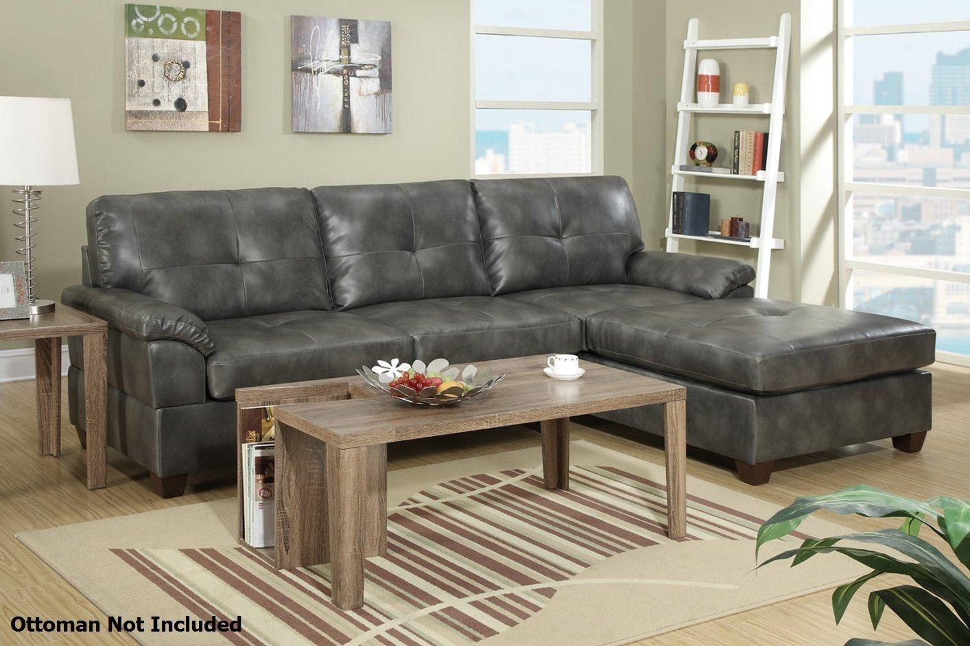 Furniture: Nostalgic Fancy Gray Leather Sectional For Living Room In Gray Leather Sectional Sofas (Image 11 of 21)
