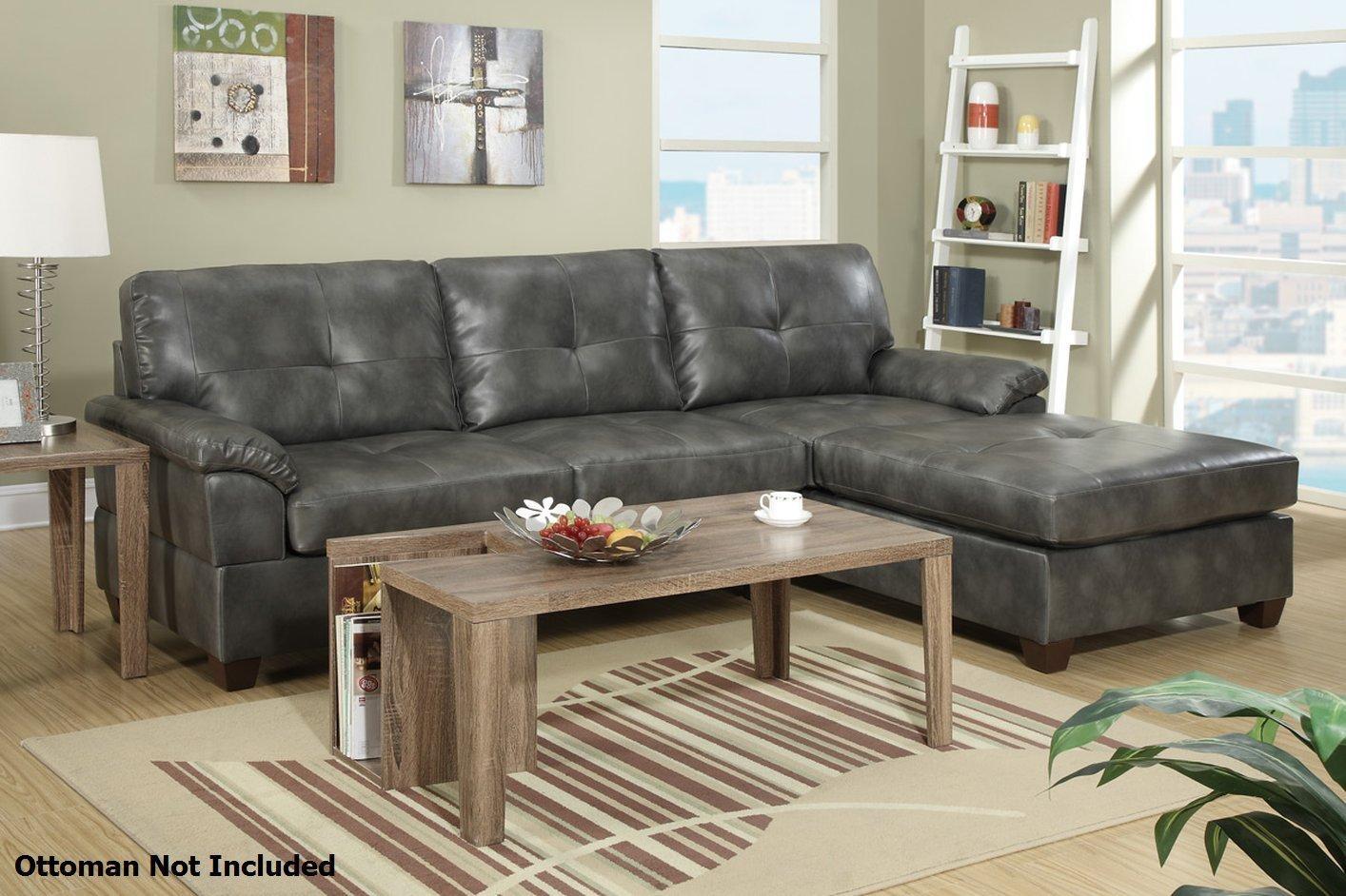 Furniture: Nostalgic Fancy Gray Leather Sectional For Living Room In Gray Leather Sectional Sofas (Image 11 of 21)